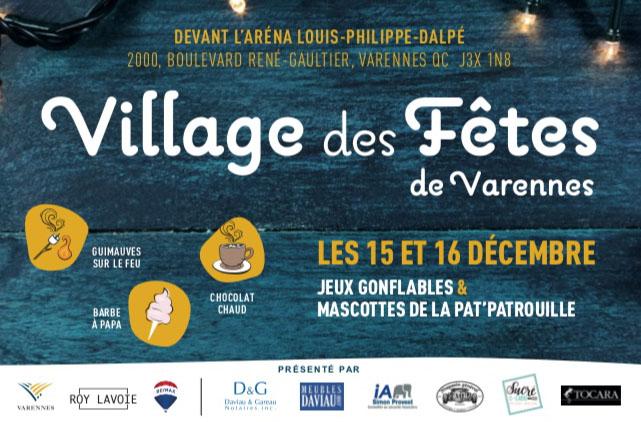 Village des Fêtes de Varennes les 15 et 16 décembre prochains