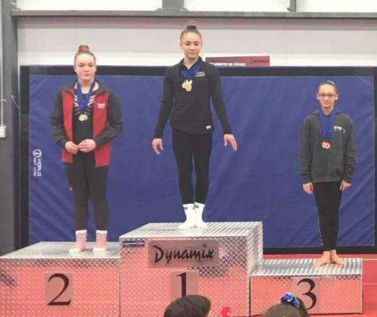 Treize gymnastes de l' école Les Dynamix représenteront la Rive-Sud aux Jeux du Québec