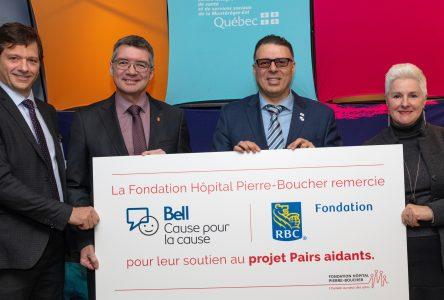 La Fondation Hôpital Pierre-Boucher reçoit une aide financière pour le projet Pairs aidants