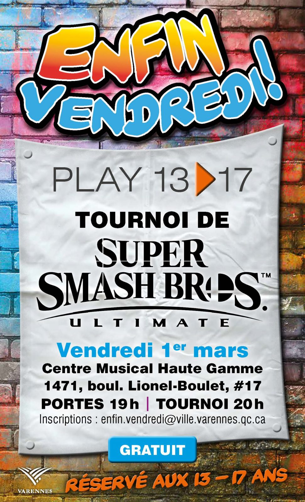 Enfin vendredi! : une nouvelle programmation pour les 13 – 17 ans à Varennes