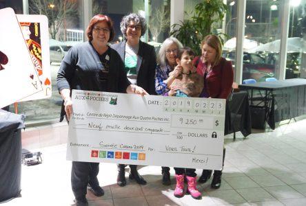 Les familles et amis du Centre de répit-dépannage Aux Quatre Poches amassent 9250 $!