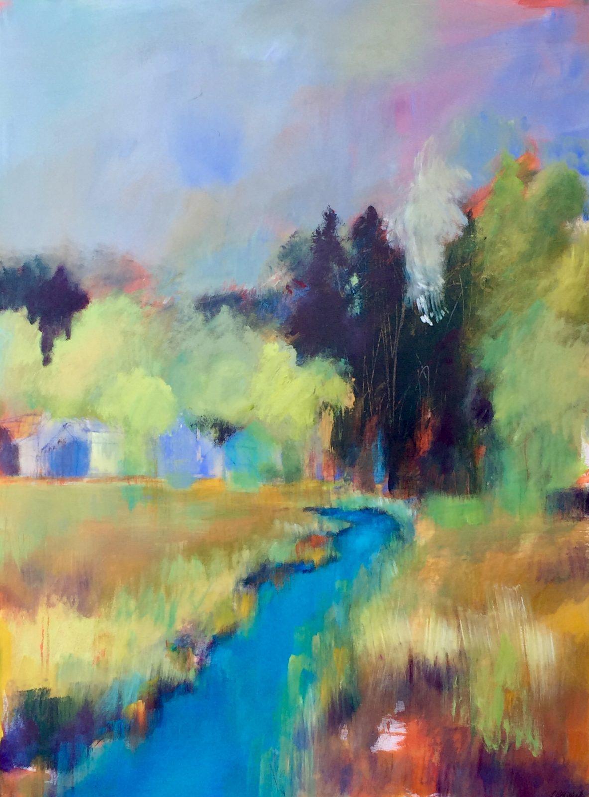 Les récentes productions de l'artiste-peintre Lucie Michel sous le thème La nature en lumière présentées à la Galerie Vincent-d'Indy