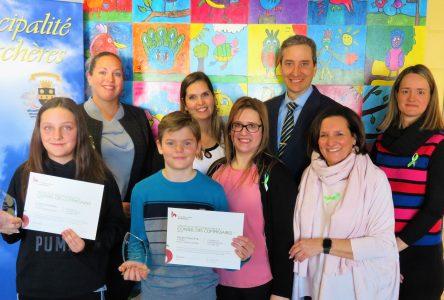La Municipalité de Verchères félicite les deux lauréats de l'école Ludger-Duvernay