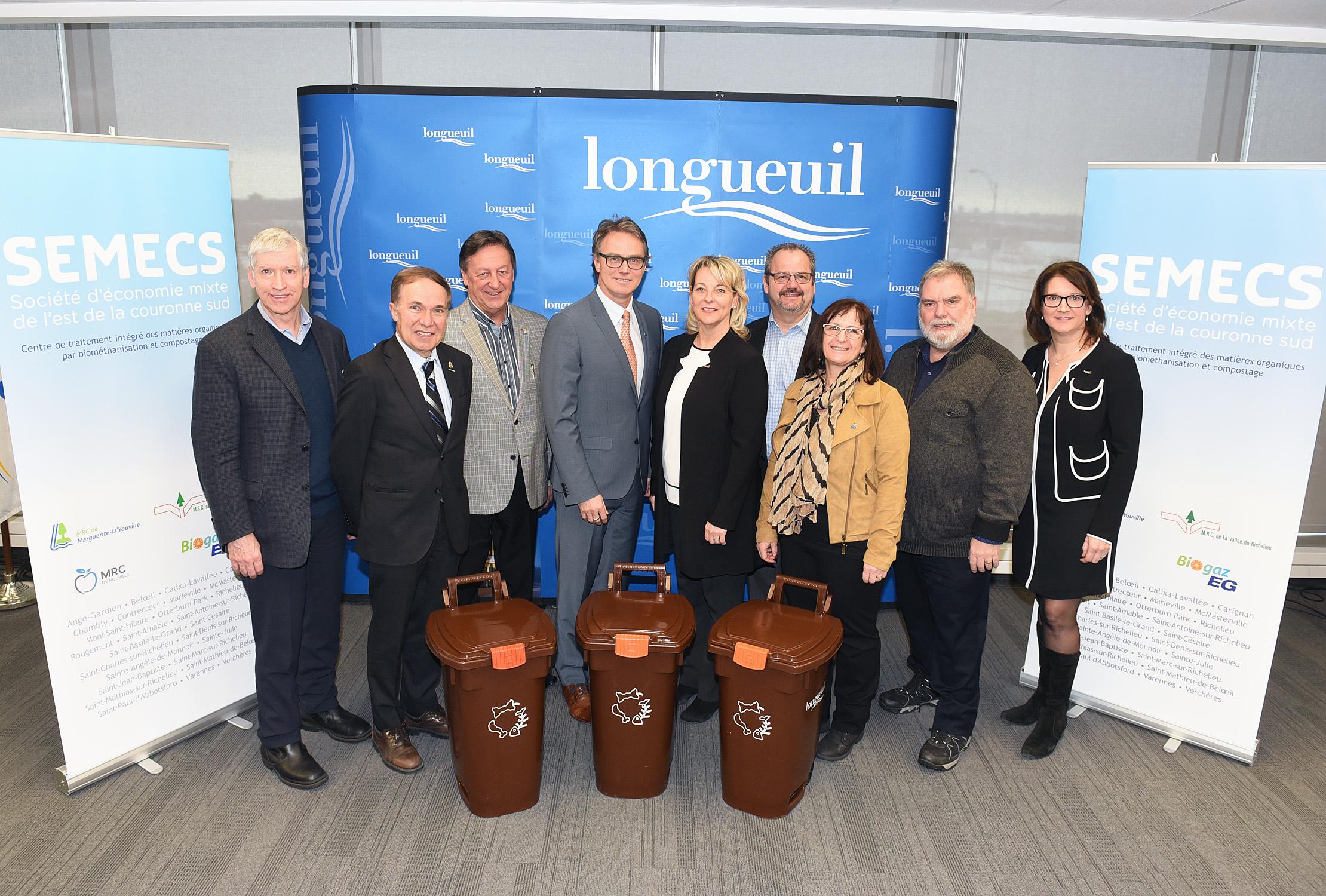 L'agglomération de Longueuil et la SÉMECS concluent une entente pour le traitement des matières organiques à Varennes
