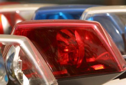 Une poursuite policière se termine par un incendie