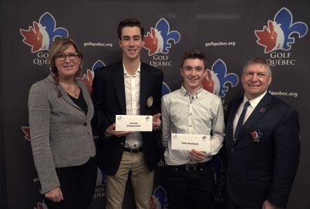 Félix Bouchard de l'école De Mortagne se démarque parmi les meilleurs golfeurs