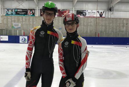 Deux patineurs des Fines lames aux Jeux du Québec
