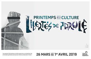 Rendez-vous au Printemps de la culture au cégep Édouard-Montpetit du 26 mars au 1er avril