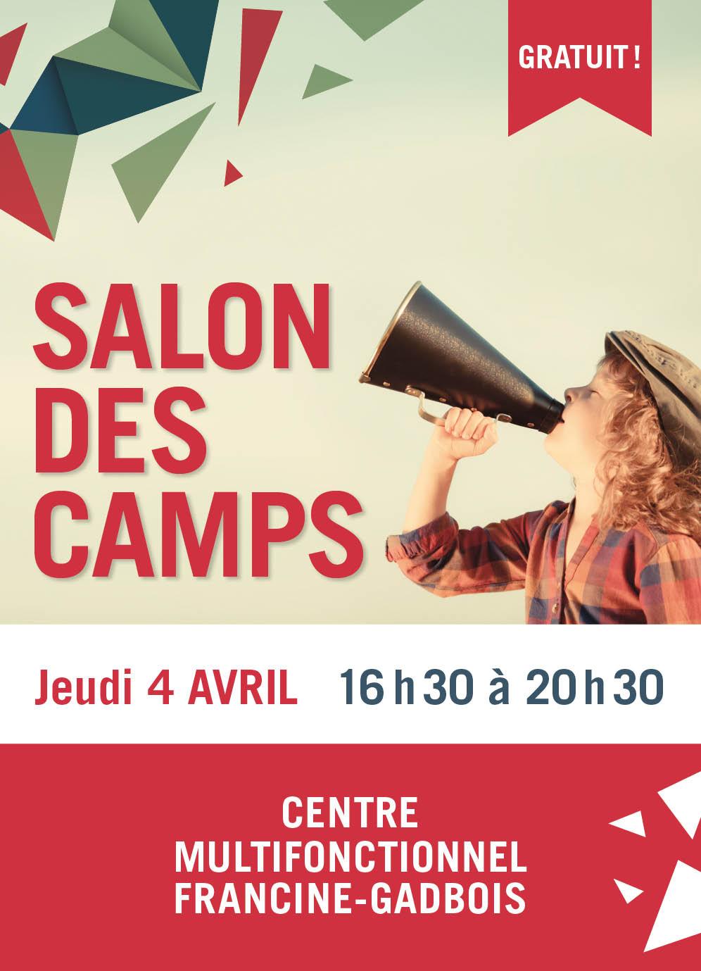 Le Salon des camps se tiendra le jeudi 4 avril au Centre multifonctionnel Francine-Gadbois