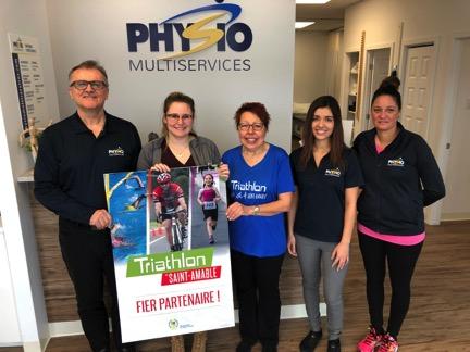 Triathlon de Saint-Amable: la clinique Physiomultiservices est partenaire présentateur de l'édition 2019