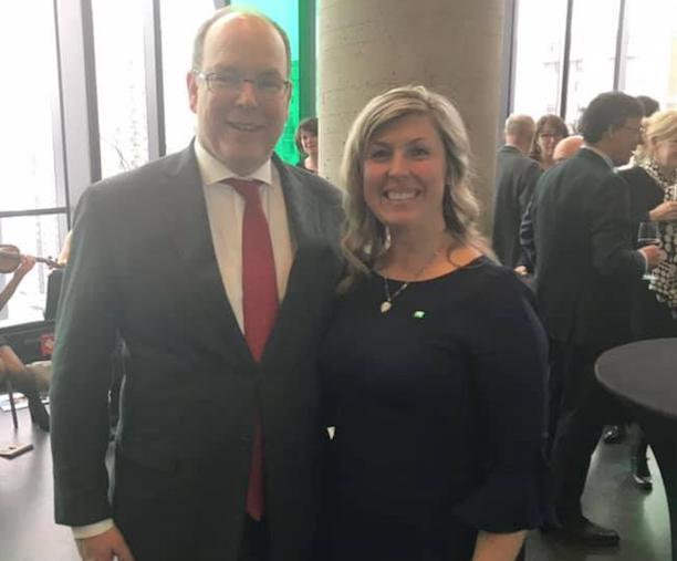 La mairesse de Contrecœur a discuté d'environnement avec le Prince Albert II de Monaco