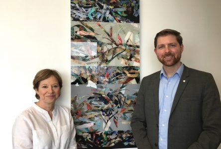 Vernissage de l'artiste Susan St-Laurent au bureau du député Xavier Barsalou-Duval