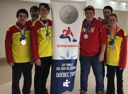 Jeux du Québec : l'argent pour l'équipe de curling