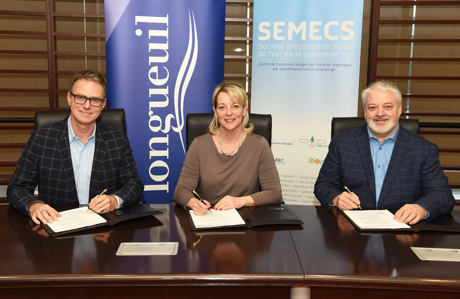 Traitement des matières organiques : l'entente entre Longueuil et la SÉMECS est signée!