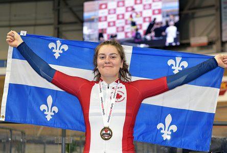 Elle s'approprie six médailles: Coralie Lévesque s'illustre aux Championnats canadiens piste