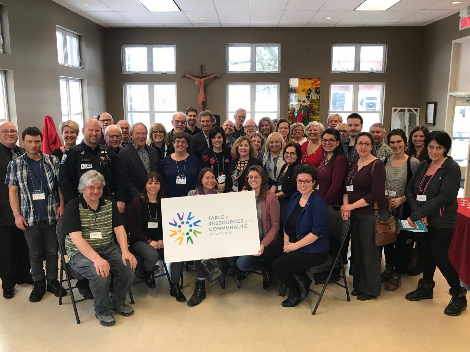 Dévoilement du logo de la Table de concertation des ressources à la communauté de Varennes.
