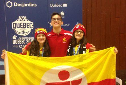 Les jumelles Dufresne ont monté sur le podium lors de la Finale des Jeux du Québec
