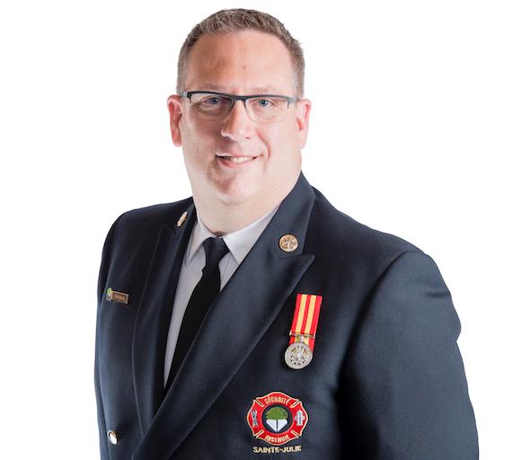 Un nouveau directeur au Service de sécurité incendie à Sainte-Julie à compter du 1er juin