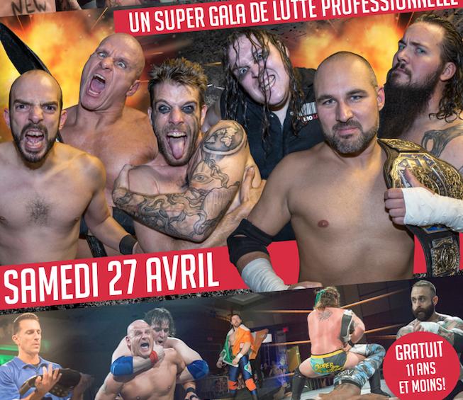 Super Gala de lutte à Verchères le 27 avril prochain