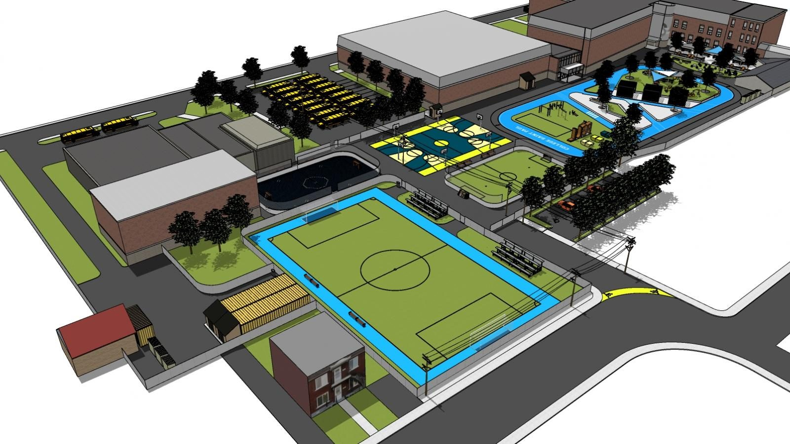 Un projet ambitieux et avant-gardiste d'aménagement de la cour extérieure du Collège Saint-Paul