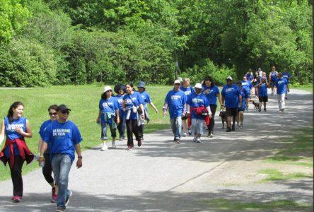 Une marche du rein à Boucherville, le 26 mai