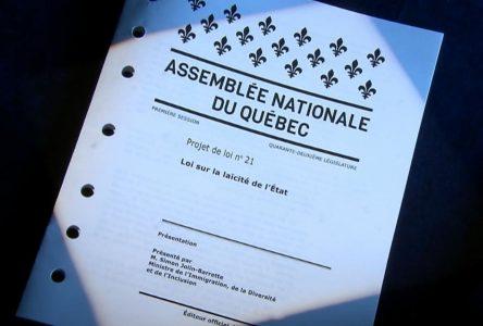 Dépôt d'un mémoire sur le projet de loi 21 du Québec