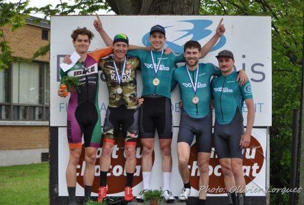 Quatre podiums pour les cyclistes de Boucherville à Beauharnois