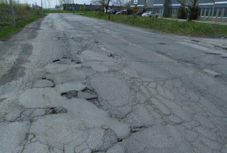 La rue Newton termine en 4e place au palmarès des plus mauvaises routes du CAA-Québec