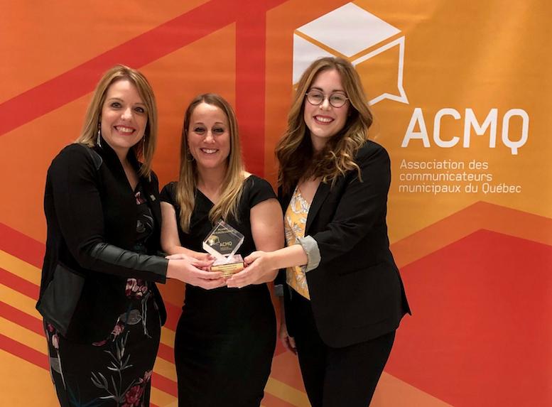 La Ville de Sainte-Julie remporte la Plume Innovation de l'Association des communicateurs municipaux du Québec