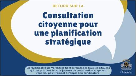 Retour sur la consultation citoyenne sur la planification stratégique