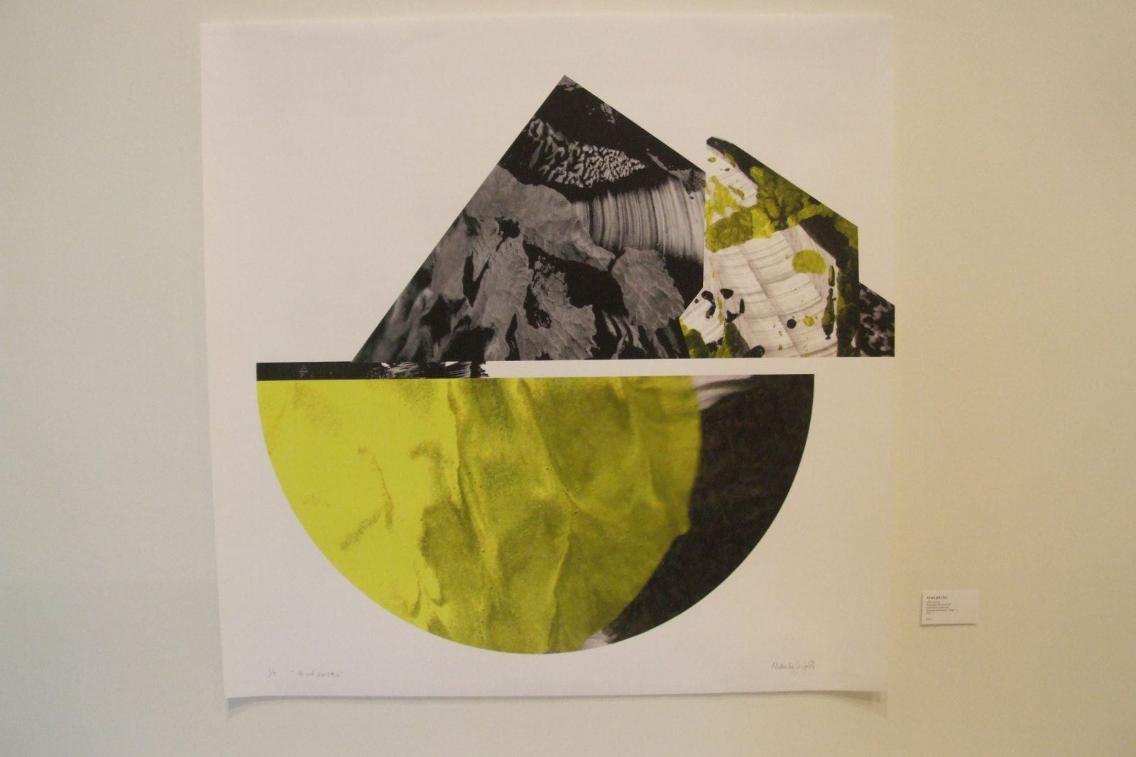 Natacha Sangalli propose une série de huit tableaux sous le thème Volcans
