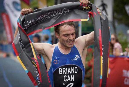 Jérémy Briand  sacré champion canadien en triathlon
