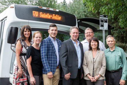 Création d'une nouvelle ligne d'autobus entre Saint-Amable et le terminus de Sainte-Julie