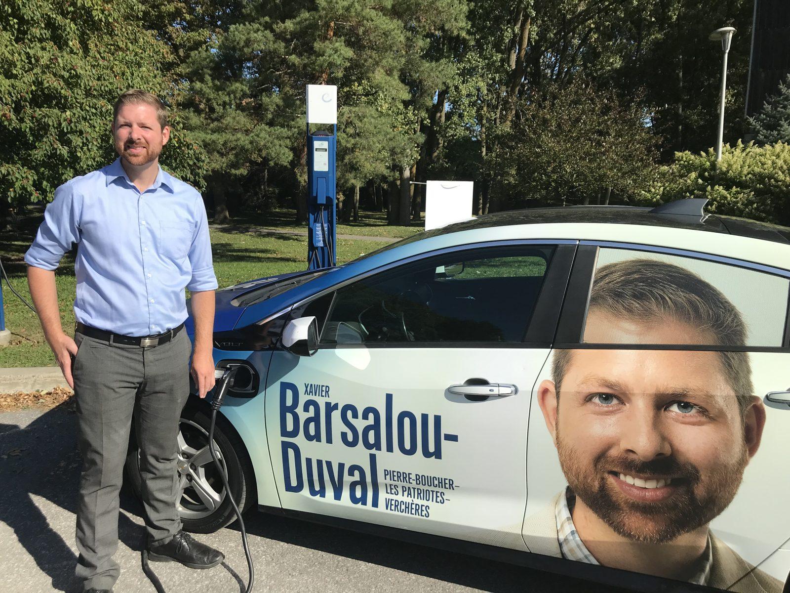 Xavier Barsalou-Duval fait de l'environnement une priorité