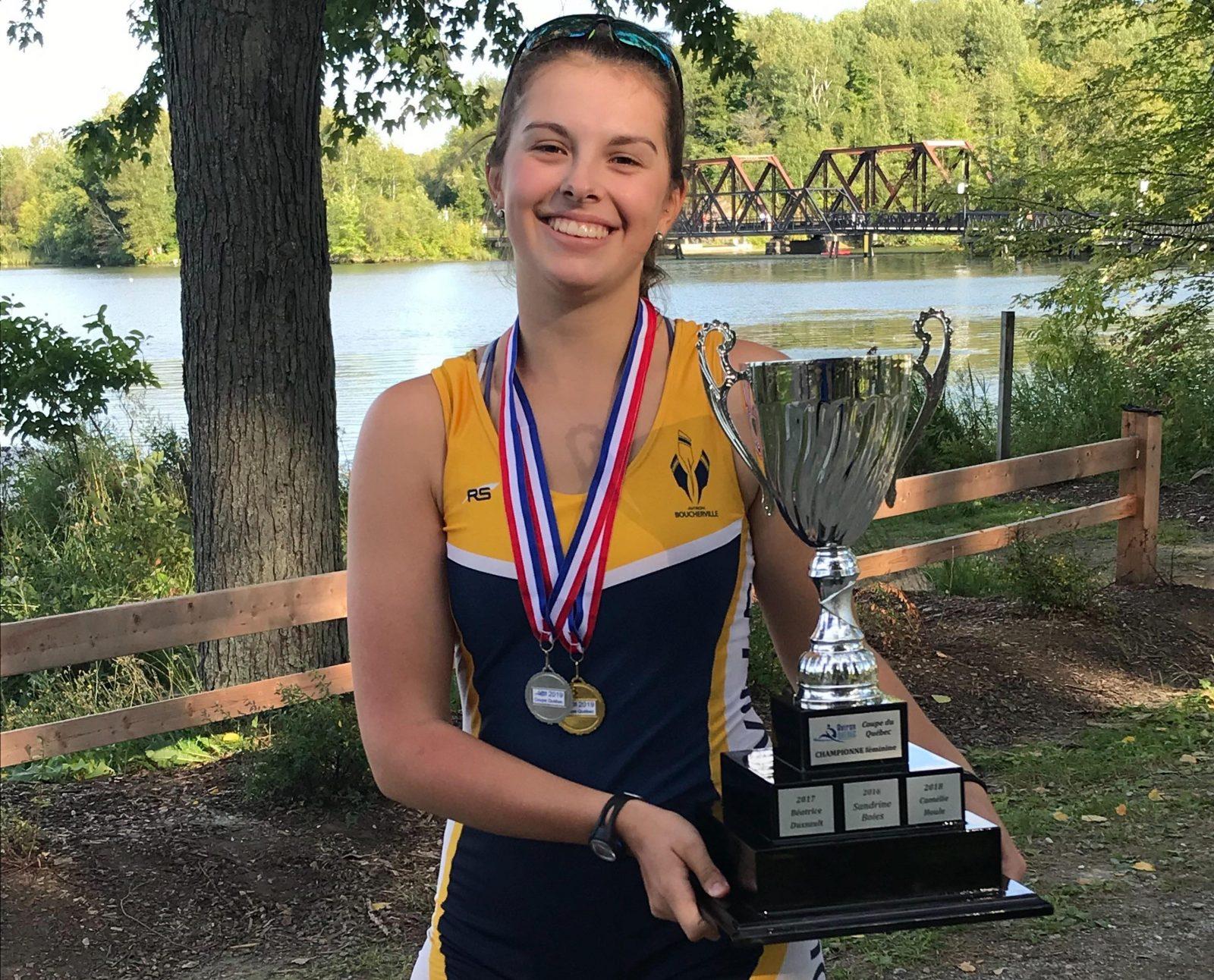 Sandrine Noël couronnée championne du Québec en aviron
