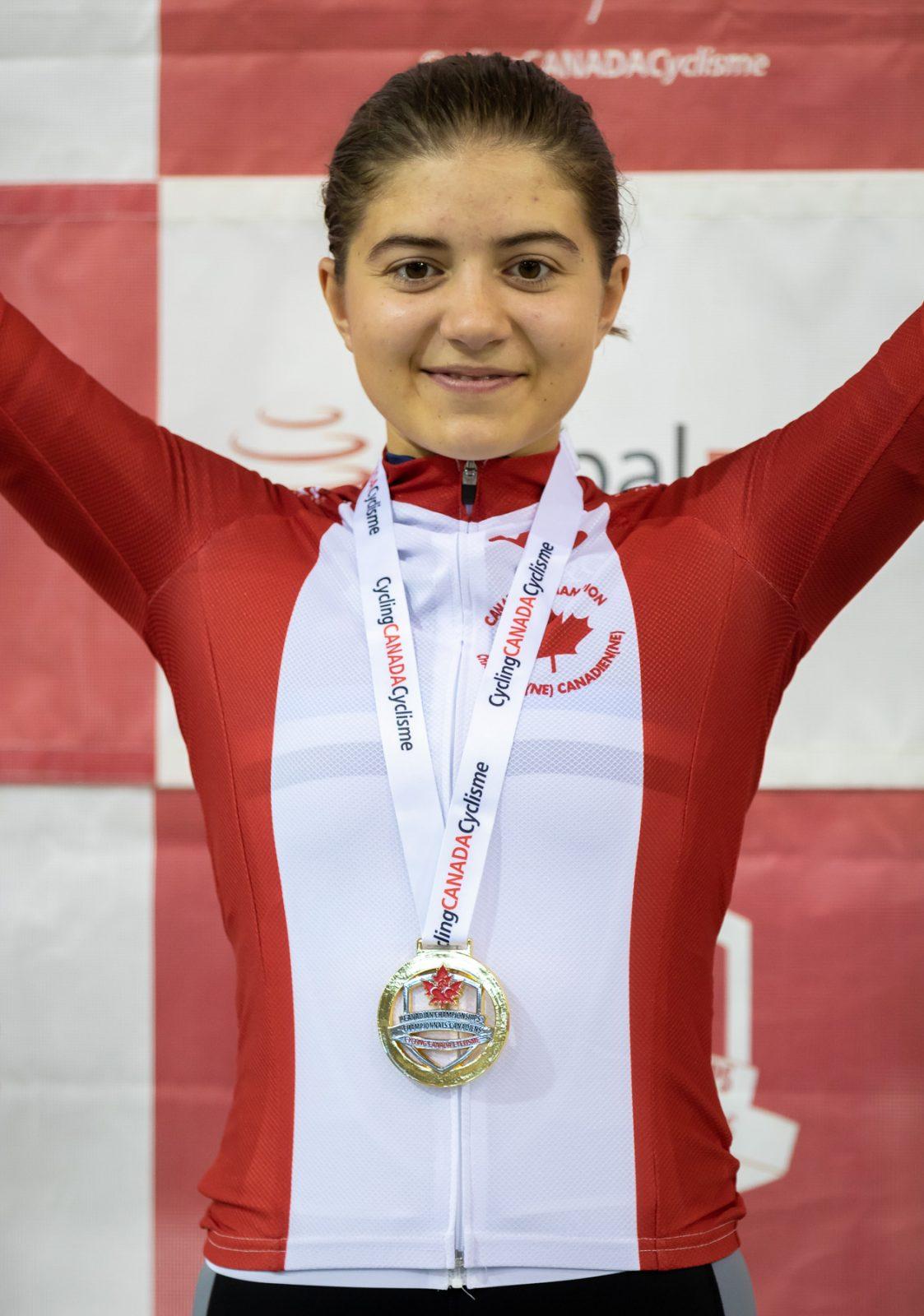 Iris Gabelier couronnée vice-championne québécoise de cyclisme sur piste