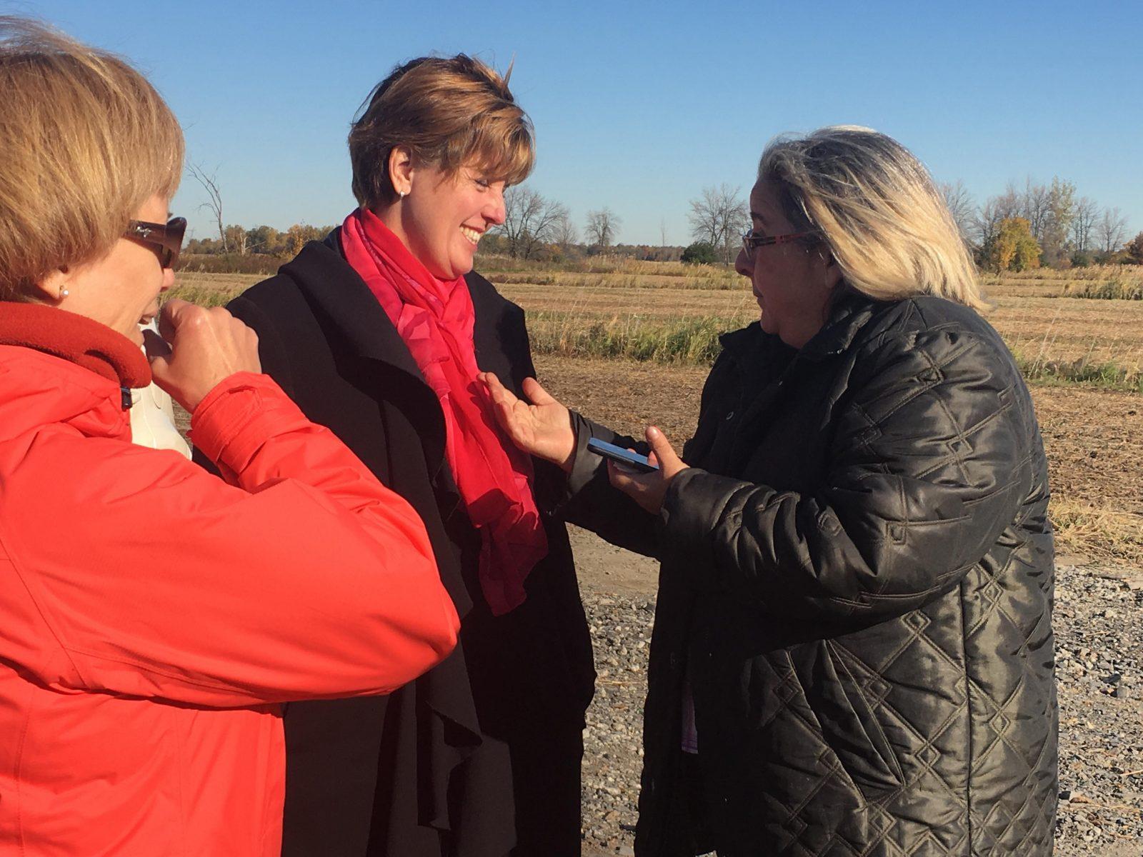 La ministre de l'Agriculture et de l'Agroalimentaire en visite à Montarville