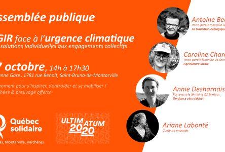 Agir face à l'urgence climatique: des actions individuelles aux solutions collectives