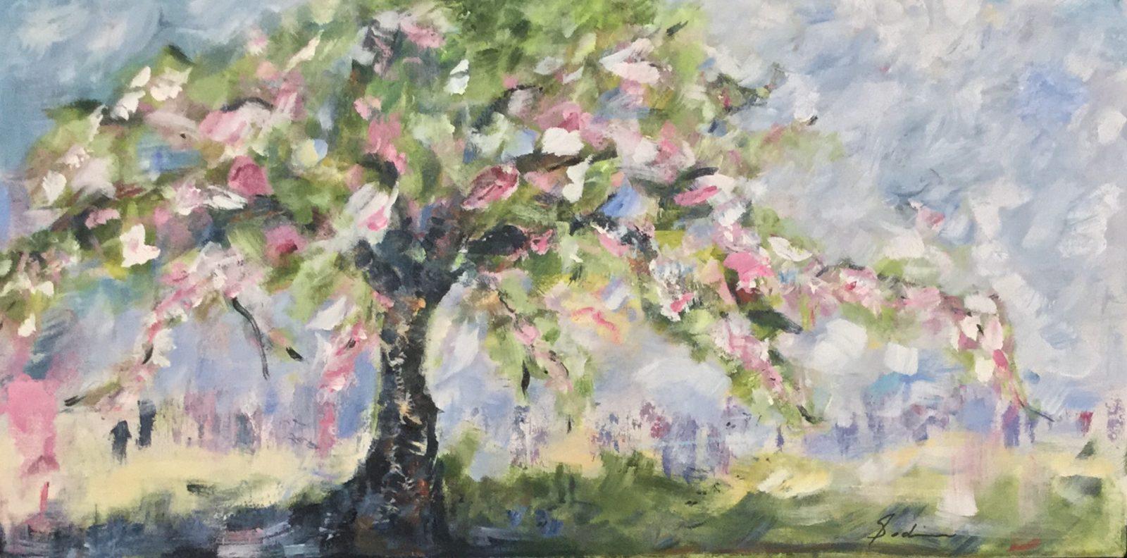 Exposition de l'artiste-peintre Louise Godin à la Maison Lenoblet-du-Plessis de Contrecoeur