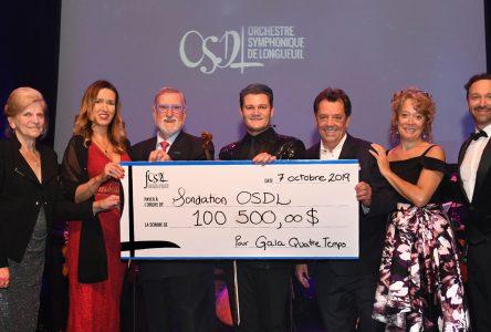 La Fondation Orchestre symphonique de Longueuil recueille 100 500 $ lors du premier gala-bénéfice du chef Alexandre Da Costa