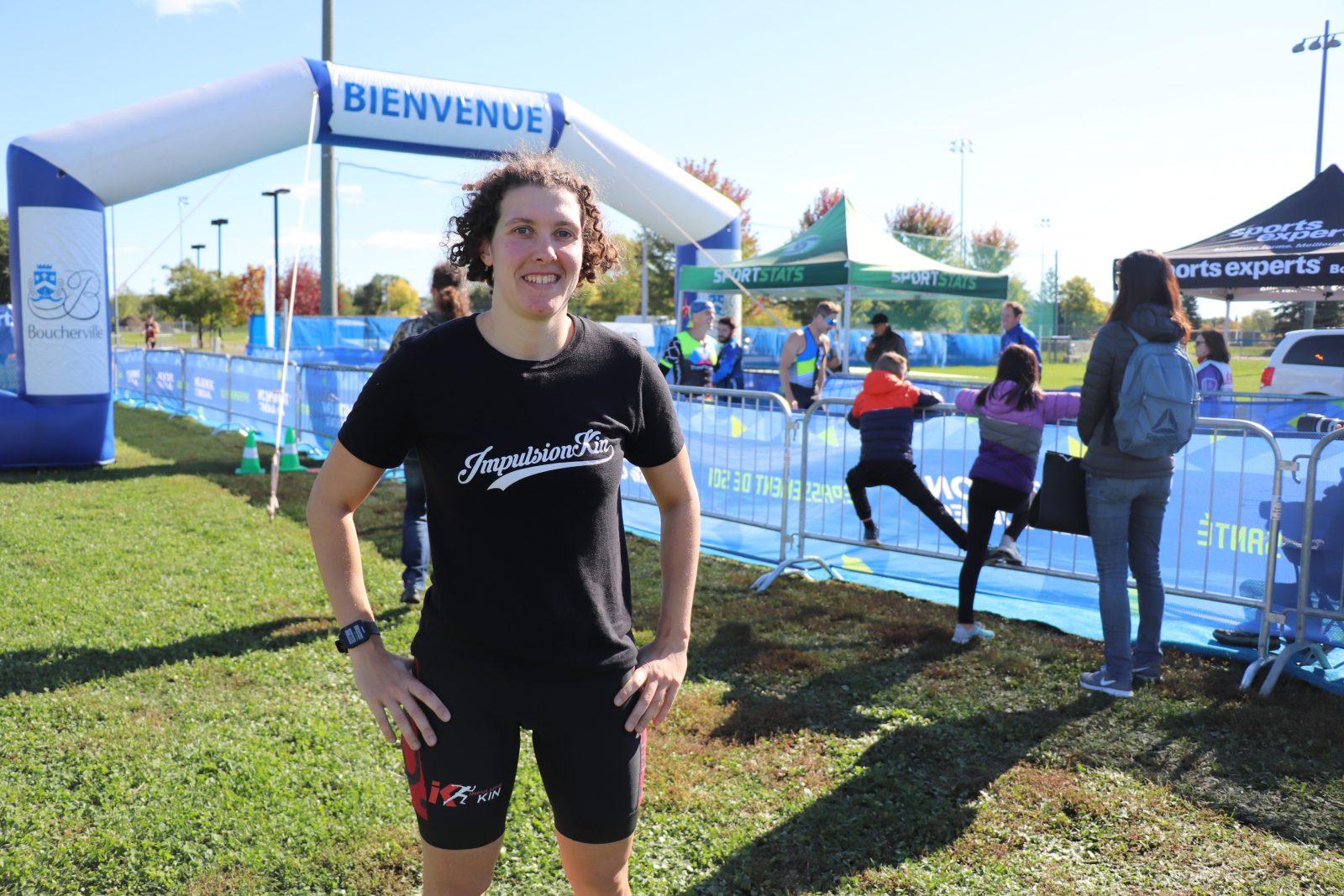 L'Amablienne Marie-Laurence Chevalier remporte l'argent au Triathlon olympique de Boucherville, chez les femmes