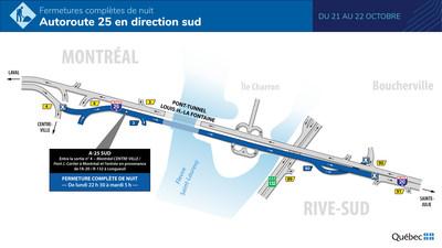 Autoroute 25 et tunnel Louis-Hippolyte-La Fontaine entre Longueuil et Montréal – Les travaux d'asphaltage et de réparation de la chaussée complétés près d'un mois à l'avance!