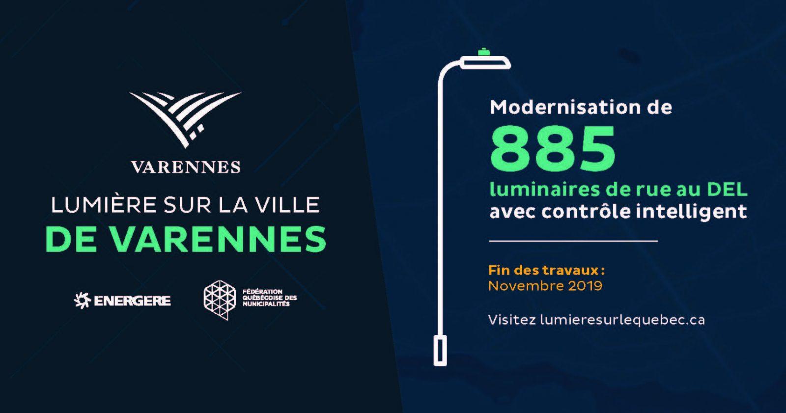 Varennes transforme son réseau d'éclairage municipal