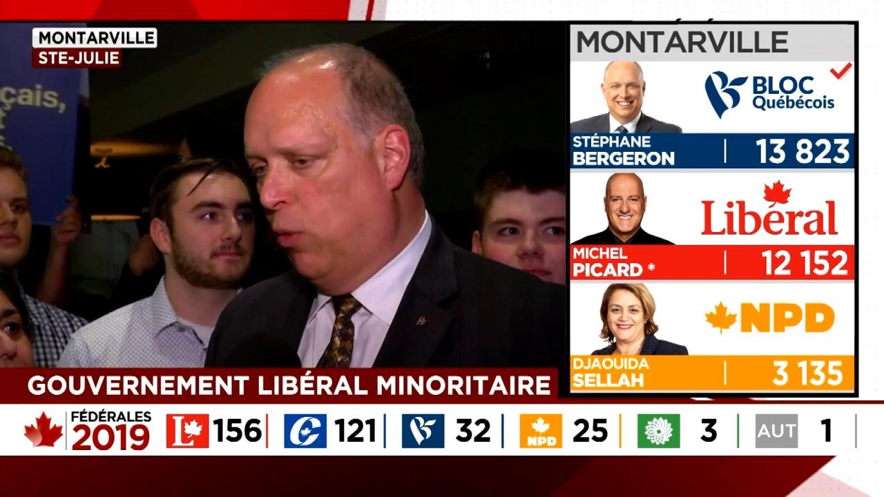 Le bloquiste Stéphane Bergeron réussit son retour en politique dans Montarville!