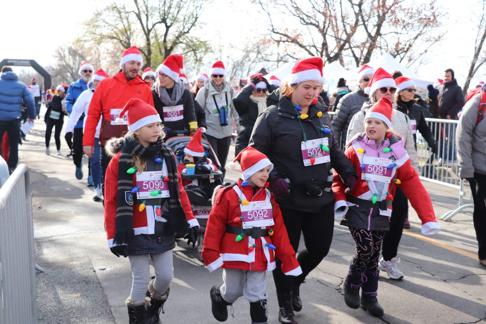 710 petits et grands pères Noël courent pour la Fondation Hôpital Pierre-Boucher
