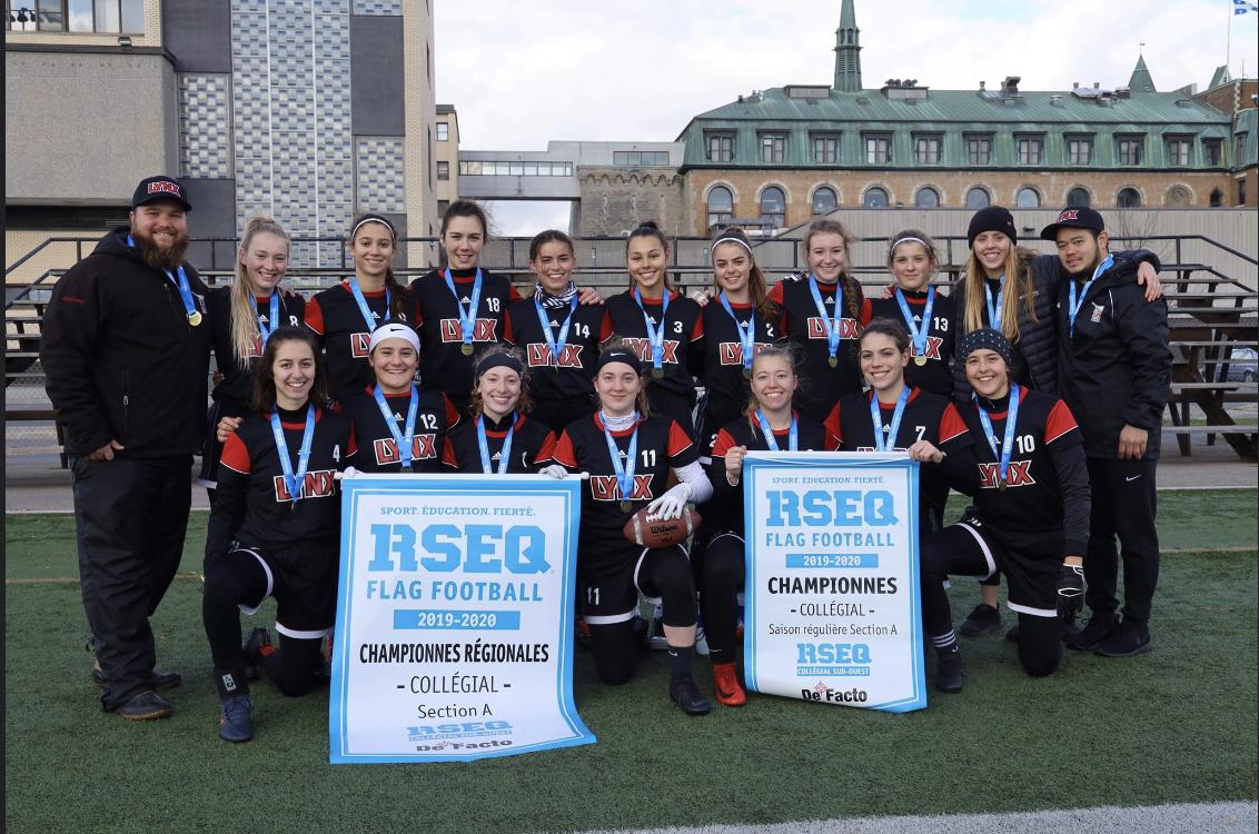 Les Lynx du cégep Édouard-Montpetit conservent leur titre en flag football féminin