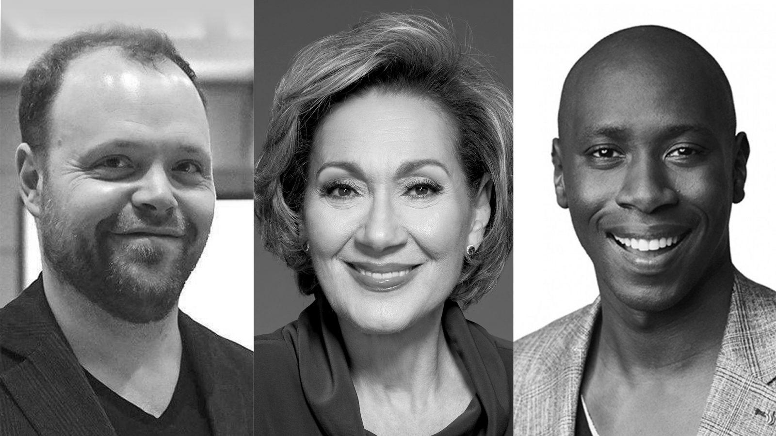 Danièle Henkel, Hassoun Camara et André Champagne participent à l'initiative Le français s'affiche!