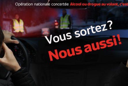 76 arrestations pour conduite avec les capacités affaiblies et 3 389 constats d'infractions en Montérégie