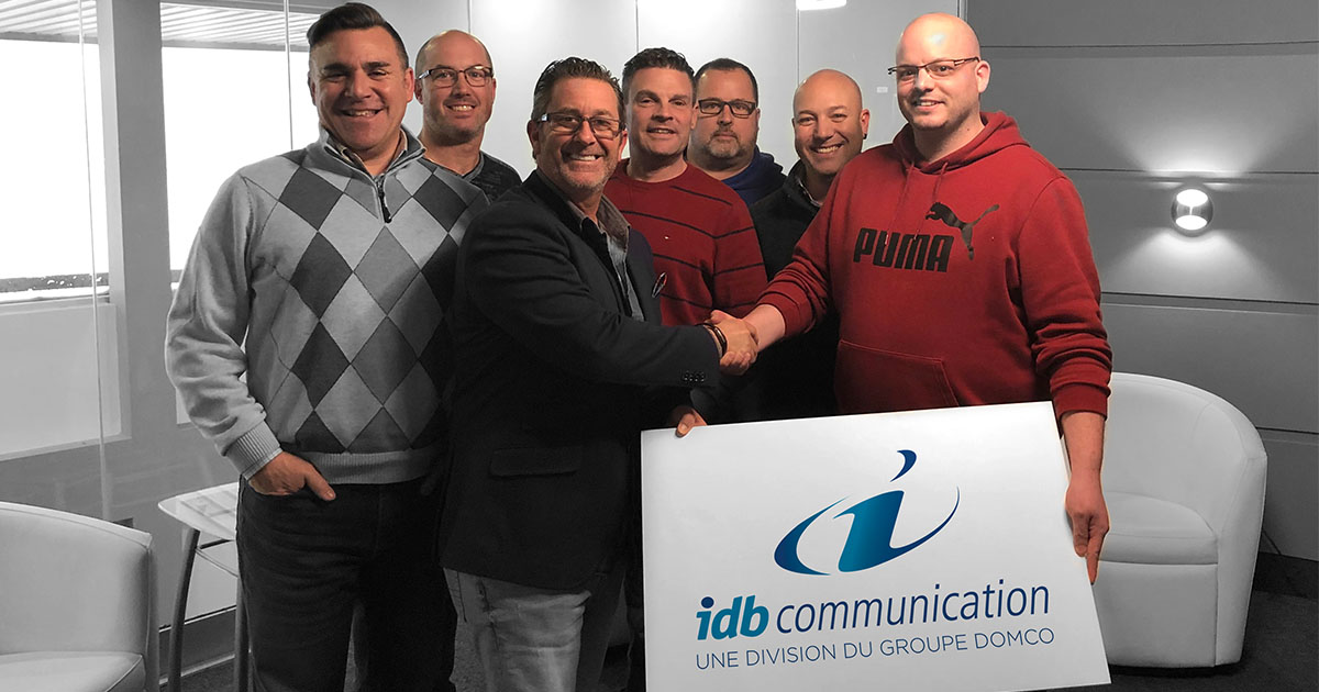 Le groupe Domco acquiert communication IDB (Imprimerie Daniel Boulet) de Boucherville