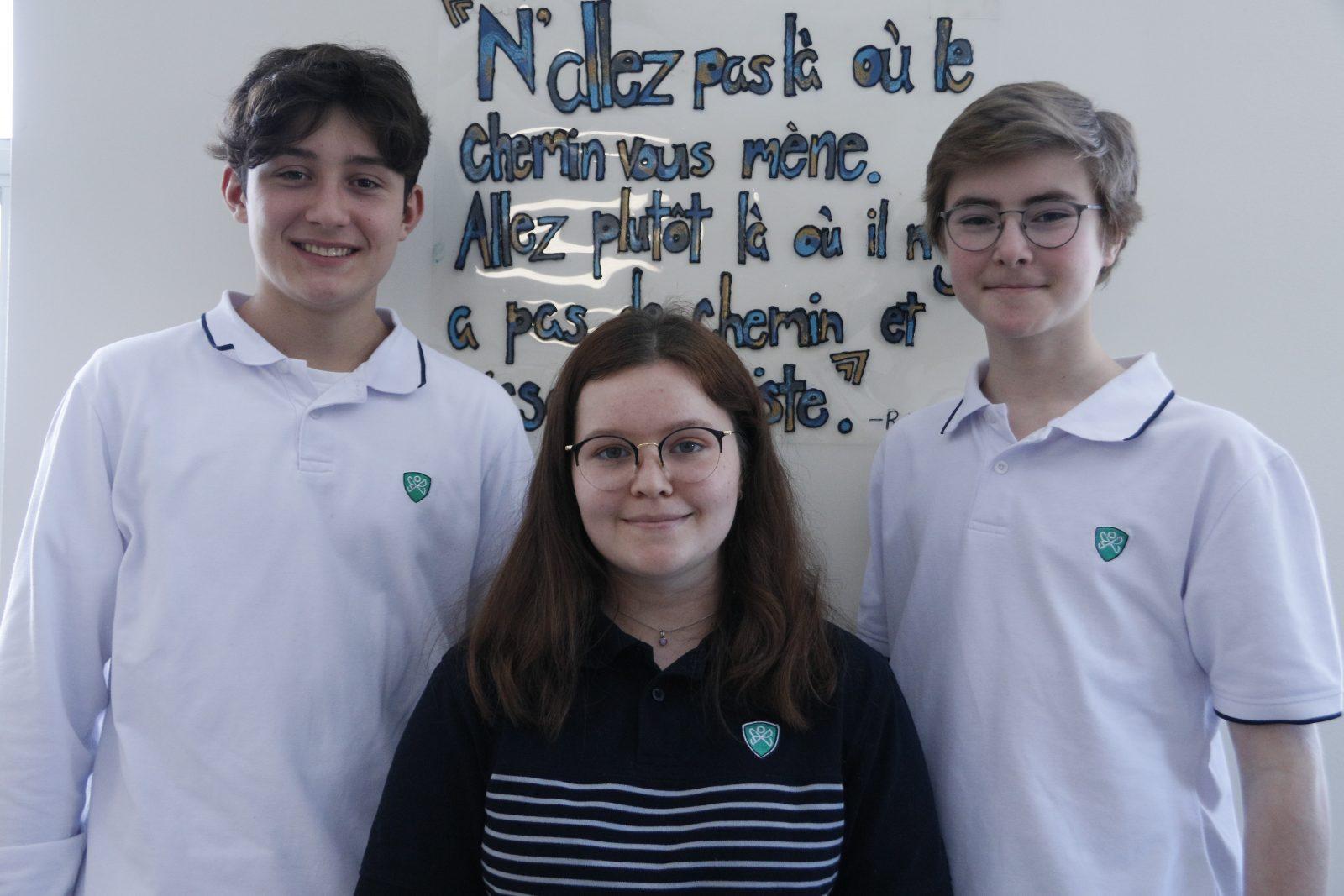 Trois élèves de Boucherville en route vers le Grand Nord